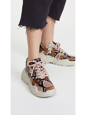 LAST sprint leather snake sneakers