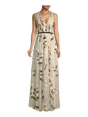 Laundry by Shelli Segal floral mesh gown