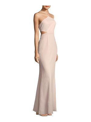 LAUNDRY BY SHELLI SEGAL Strappy Sheath Gown