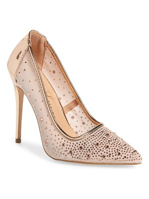 Lauren Lorraine janna embellished illusion pump