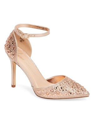 LAUREN LORRAINE Rose Crystal Embellished D'Orsay Pump