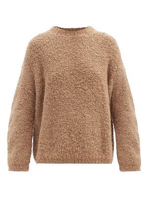 Lauren Manoogian curved-sleeve alpaca and wool-blend bouclé sweater