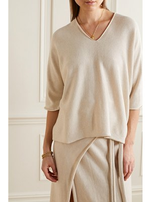 Lauren Manoogian horizontal huipil pima cotton and silk-blend sweater