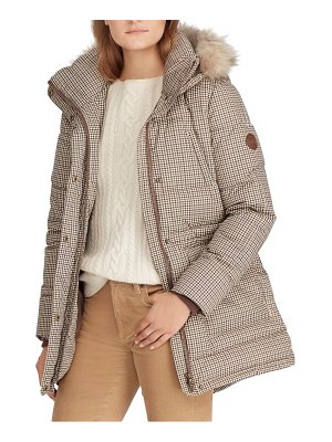 Lauren Ralph Lauren faux fur trim puffer coat