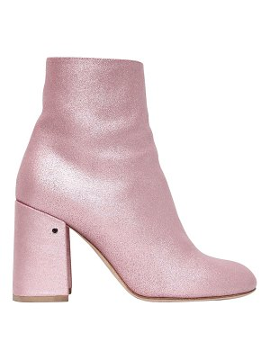 Laurence Dacade 90mm philae glitter leather ankle boots
