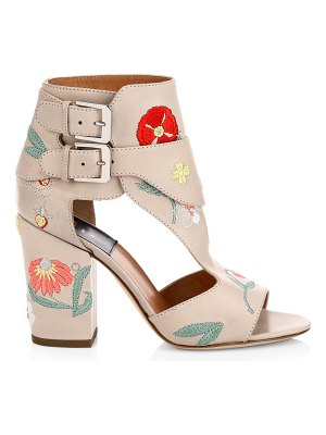 Laurence Dacade rush herbarium floral leather sandals