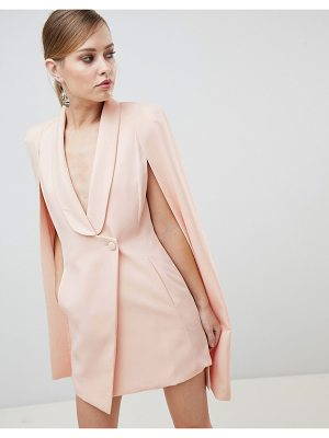 Lavish Alice Cape Asymmetric Front Mini Dress
