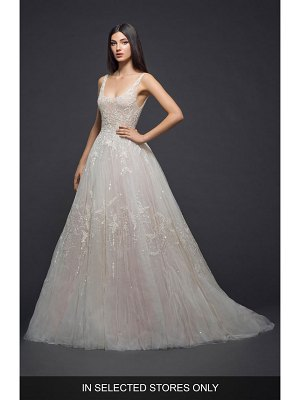 Lazaro embellished tulle gown