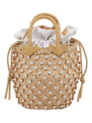 Le Nine Nina Small Opal-Crystal Studded Bucket Bag