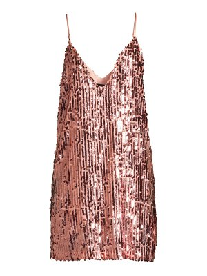 Le Superbe full moon plunging sequin dress