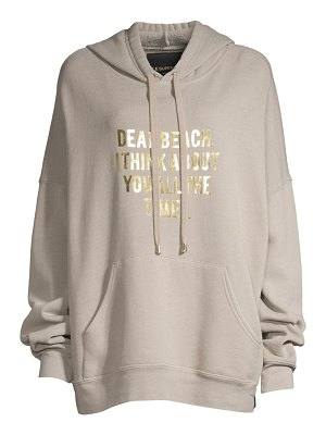 Le Superbe oversized graphic hoodie