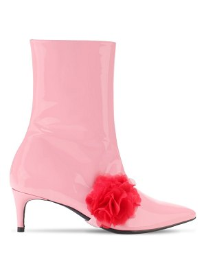 LEANDRA MEDINE 55mm patent leather ankle boots