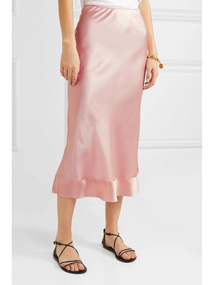 LEE MATHEWS stella silk-satin midi skirt