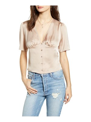 Leith button-up satin top