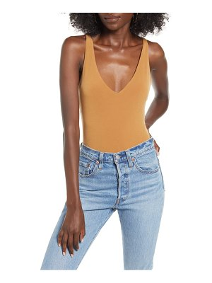 Leith double-v bodysuit