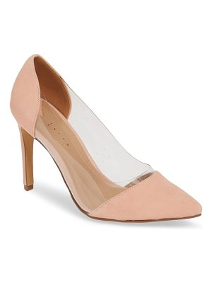 Leith penny clear pointy toe pump
