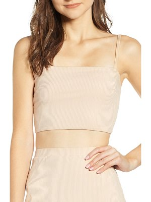 Leith ribbed cropped tank top