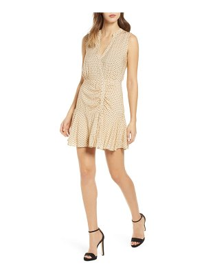 Leith ruched dot minidress