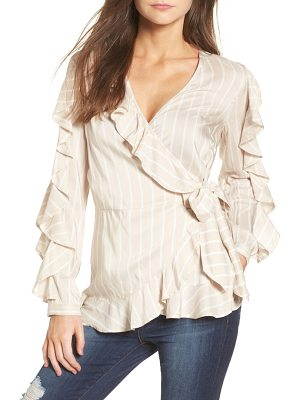 LEITH Ruffle Wrap Top