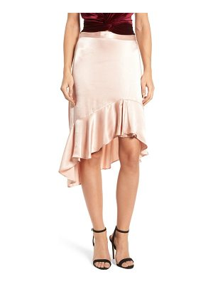 LEITH Sateen Ruffle Skirt