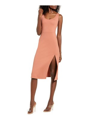Leith scoop neck midi dress