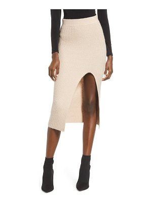 Leith split sweater midi skirt