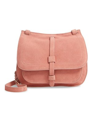 Leith suede crossbody saddle bag