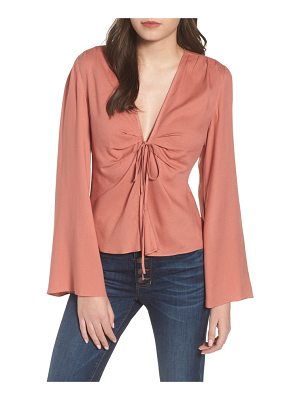 Leith tie front blouse