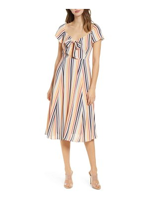 Leith tie front midi dress