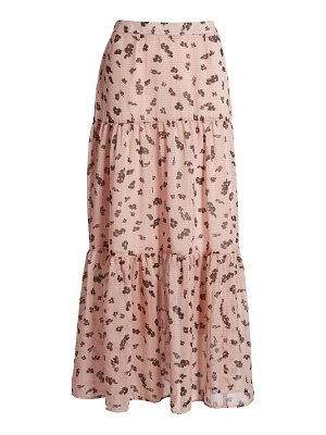 Leith tiered maxi skirt