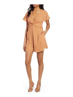 Leith twist front romper