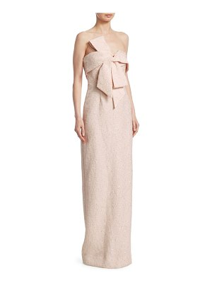 Lela Rose bow-front column gown