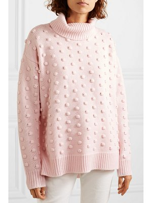 Lela Rose dotted wool and cashmere-blend turtleneck sweater