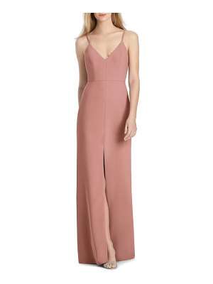 Lela Rose v-neck crepe mermaid gown