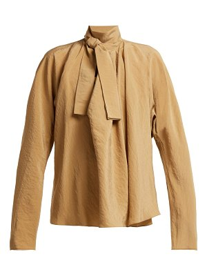 LEMAIRE Draped Pussy Bow Blouse