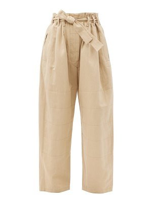 LEMAIRE judo belted cotton-blend wide-leg trousers