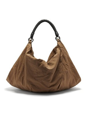 LEMAIRE large braided-handle cotton-blend twill tote bag