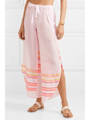 LEMLEM net sustain eskedar fly away striped cotton-blend gauze pants