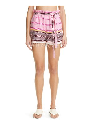 LEMLEM neela paperbag waist cotton blend shorts