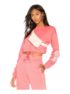 LES GIRLS LES BOYS Loopback Cropped Sweatshirt