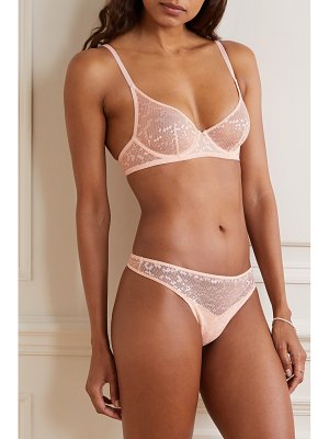 LES GIRLS LES BOYS stretch-lace thong