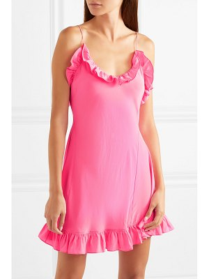 Les Rêveries ruffled silk crepe de chine mini dress