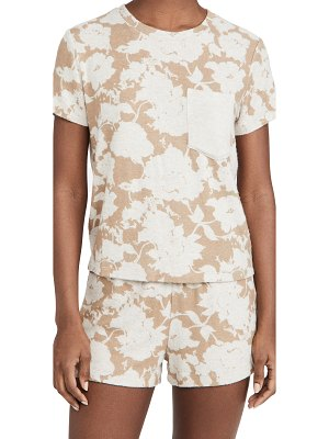 LESET lori floral classic pocket tee