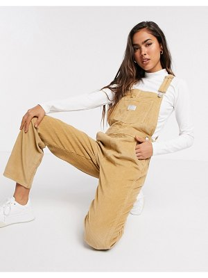 Levi's vintage overalls in iced coffee-beige