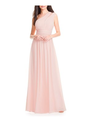 Levkoff # chiffon one-shoulder gown