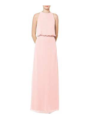 Levkoff # halter neck blouson bodice chiffon evening dress