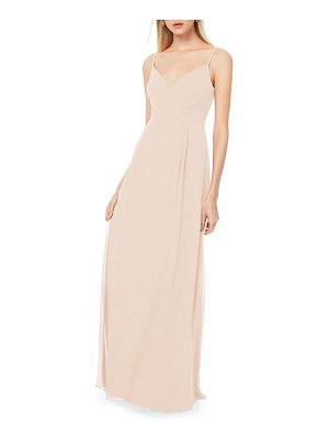 Levkoff # pleated bodice chiffon gown