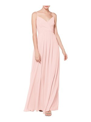 Levkoff # surplice neck chiffon evening dress