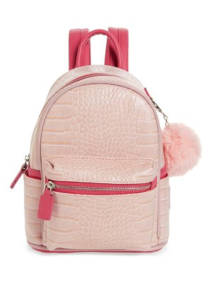 LIKE DREAMS croc embossed faux leather backpack