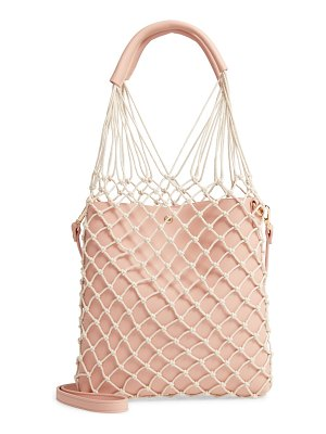 LIKE DREAMS knotted faux leather tote